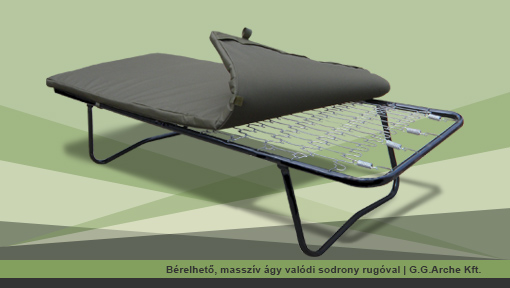 Bérelhető, masszív ágy valódi sodrony rugóval | G.G.Arche Kft.