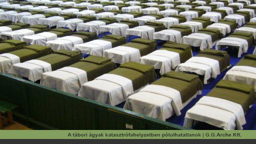 A tábori ágyak katasztrófahelyzetben pótolhatatlanok | G.G.Arche Kft.
