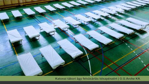 Katonai, katasztrófavédelmi tábori ágy felvásárlás, megvásárlás, vétel, átvétel készpénzért | G.G.Arche Kft.